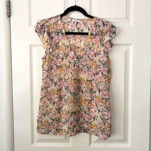 Joie Floral silk top